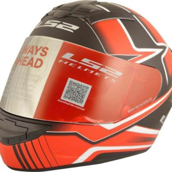 LS2 FF 352 Max Matt Black Red Full Face Helmet 1