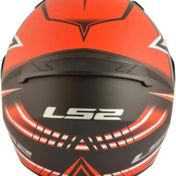 LS2 FF 352 Max Matt Black Red Full Face Helmet 2
