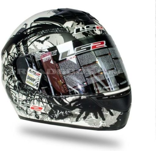 LS2 FF 352 Phobia Matt Pearl White Black Full Face Helmet 2