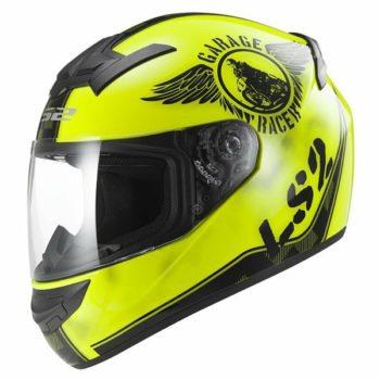 LS2 FF 352 Rookie Fan Matt Fluorescent Yellow Full Face Helmet 1