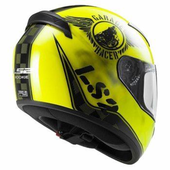 LS2 FF 352 Rookie Fan Matt Fluorescent Yellow Full Face Helmet 2