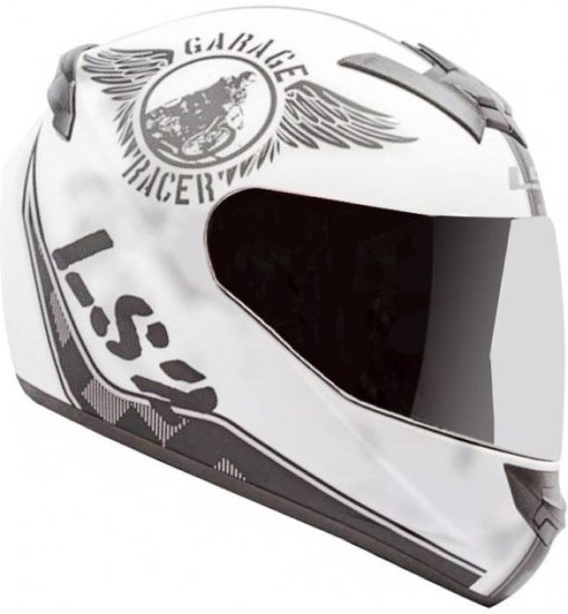 LS2 FF 352 Rookie Fan Matt White Black Full Face Helmet