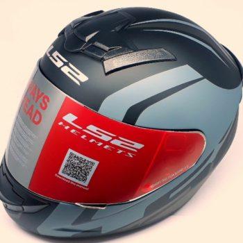 LS2 FF 352 Touring Matt Black Grey Silver Full Face Helmet 1