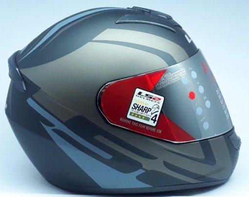 LS2 FF 352 Touring Matt Black Grey Silver Full Face Helmet 2
