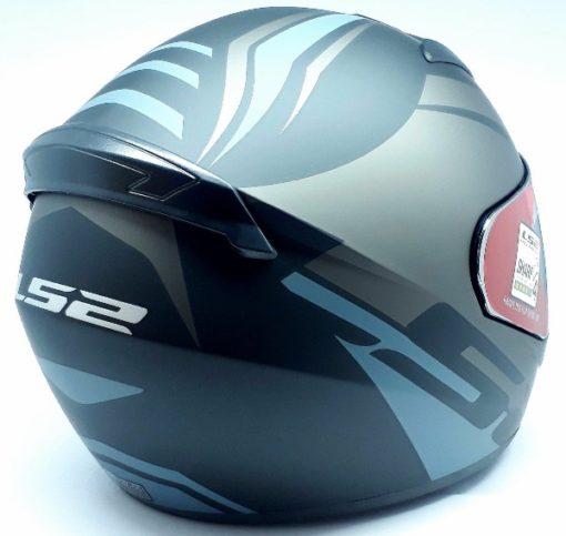 LS2 FF 352 Touring Matt Black Grey Silver Full Face Helmet 3