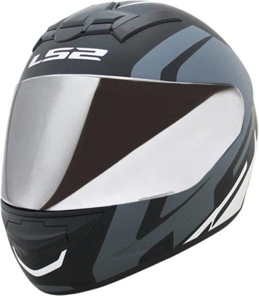 LS2 FF 352 Touring Matt Black Grey White Full Face Helmet 1