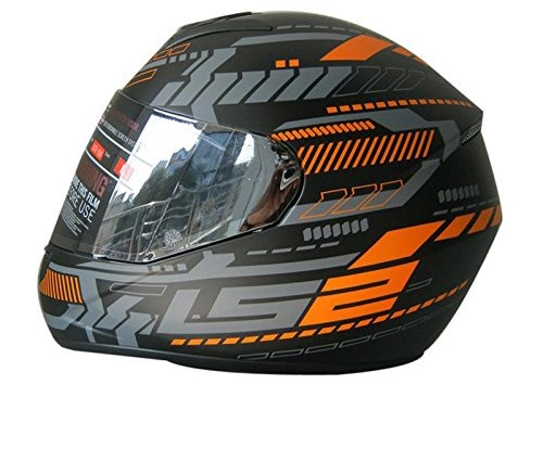LS2 FF 352 Tron Matt Black Orange Full Face Helmet 1