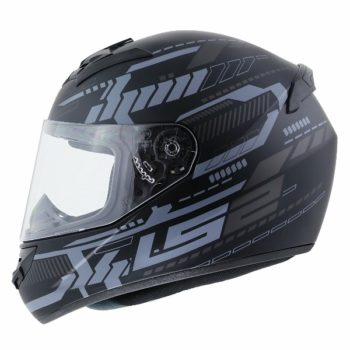 LS2 FF 352 Tron Matt Black Titanium Full Face Helmet 1