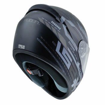 LS2 FF 352 Tron Matt Black Titanium Full Face Helmet 2