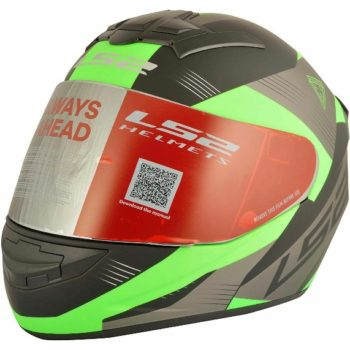 LS2 FF 352 Trooper Matt Black Fluorescent Green Full Face Helmet 1