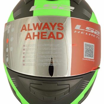 LS2 FF 352 Trooper Matt Black Fluorescent Green Full Face Helmet 2