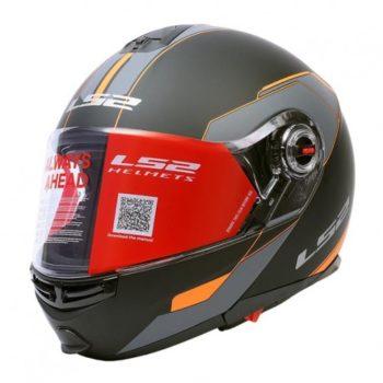 LS2 FF 386 Midnight Matt Black Orange Full Face Helmet