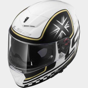 LS2 FF 390 Classic White Black Matt Full Face Helmet 2