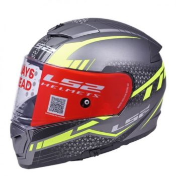 LS2 FF 390 Split Matt Titanium Yellow Full Face Helmet