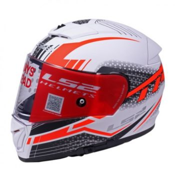 LS2 FF 390 Split Matt White Red Full Face Helmet