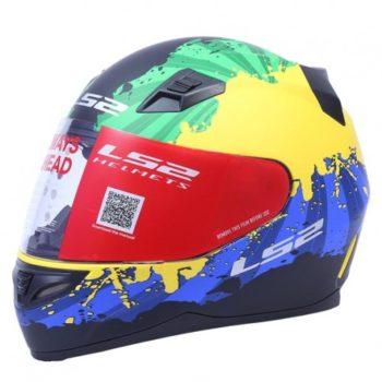 LS2 FF 391 Ink Yellow Green Blue Matt Full Face Helmet