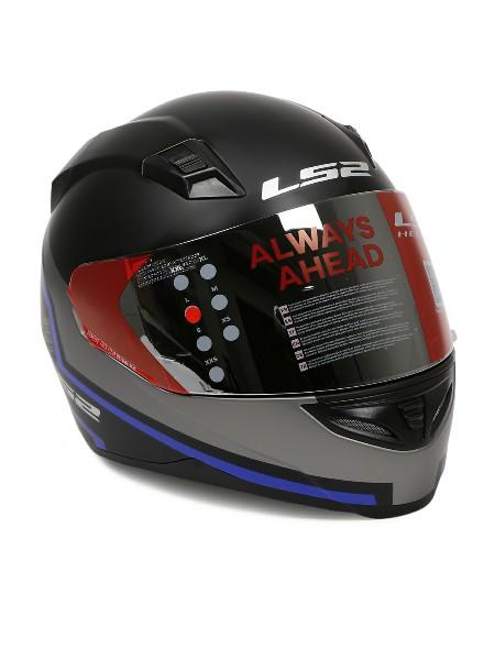 LS2 FF 391 Piston Matt Black Blue Full Face Helmet 1