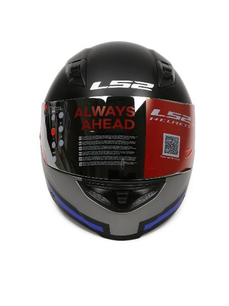 LS2 FF 391 Piston Matt Black Blue Full Face Helmet 2
