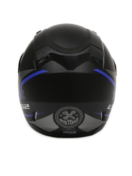 LS2 FF 391 Piston Matt Black Blue Full Face Helmet 4