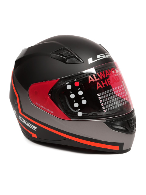 LS2 FF 391 Piston Matt Black Orange Full Face Helmet 1