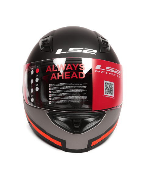 LS2 FF 391 Piston Matt Black Orange Full Face Helmet 2
