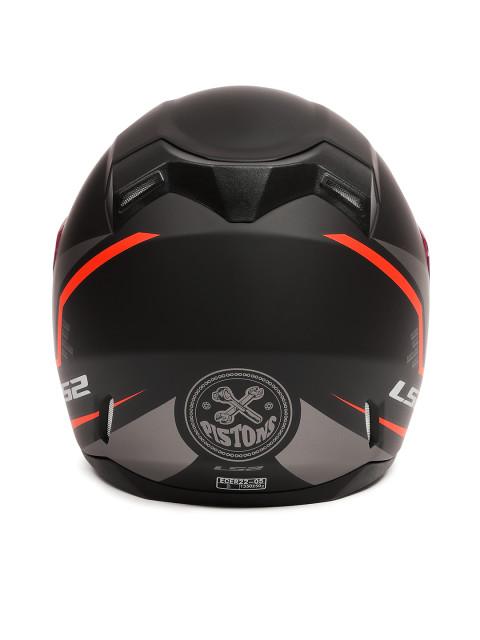 LS2 FF 391 Piston Matt Black Orange Full Face Helmet 4