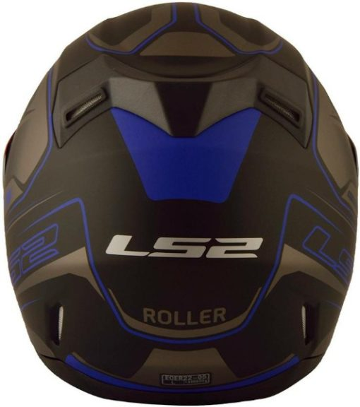 LS2 FF 391 Roller Matt Black Blue Full Face Helmet 2