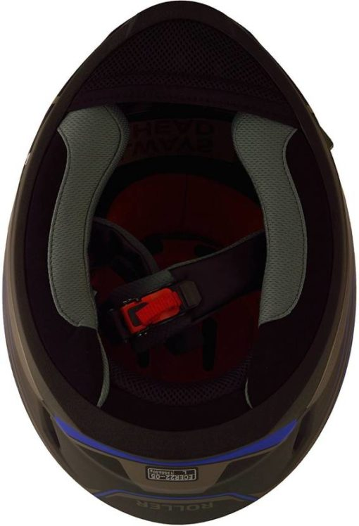 LS2 FF 391 Roller Matt Black Blue Full Face Helmet 4