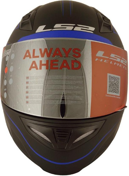 LS2 FF 391 Roller Matt Black Blue Full Face Helmet