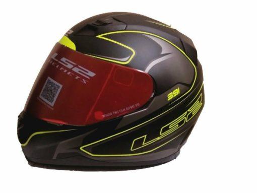 LS2 FF 391 Roller Matt Black Fluorescent Yellow Full Face Helmet 1