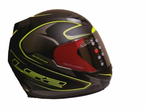 LS2 FF 391 Roller Matt Black Fluorescent Yellow Full Face Helmet 2