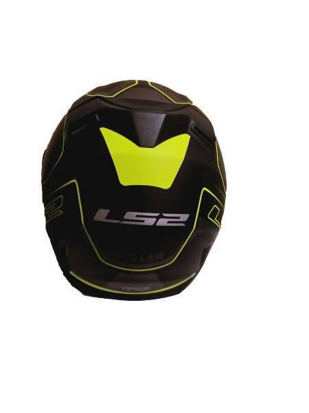 LS2 FF 391 Roller Matt Black Fluorescent Yellow Full Face Helmet 3