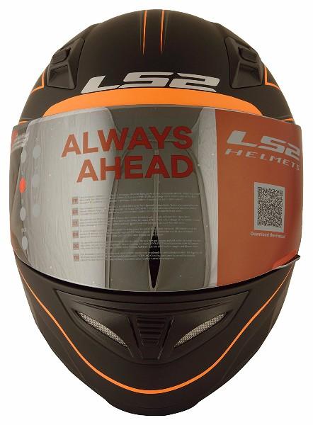 LS2 FF 391 Roller Matt Black Neon Orange Full Face Helmet 2