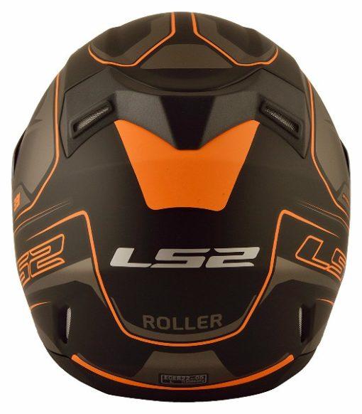 LS2 FF 391 Roller Matt Black Neon Orange Full Face Helmet 3