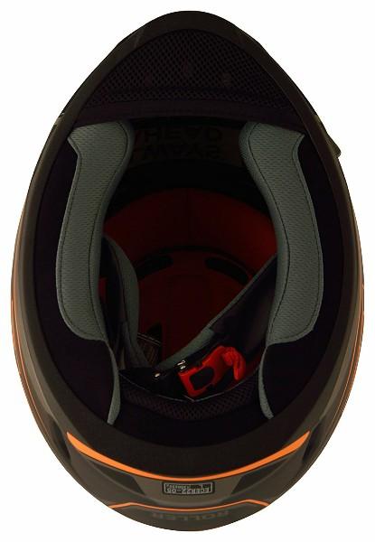 LS2 FF 391 Roller Matt Black Neon Orange Full Face Helmet 4