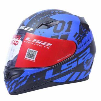 LS2 FF 391 Tokyo Matt Black Blue Full Face Helmet