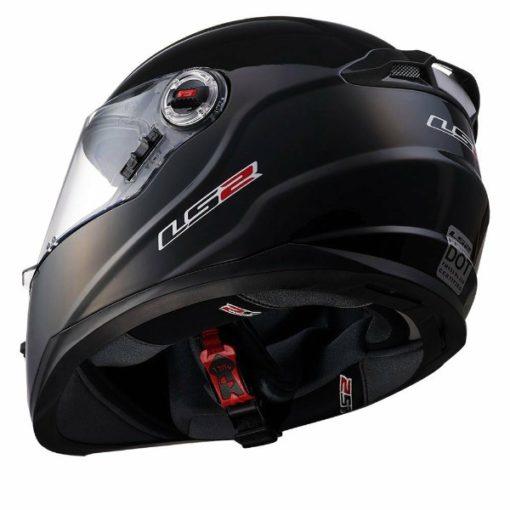 LS2 FF 392 Solid Matt Black Full Face Helmet 3