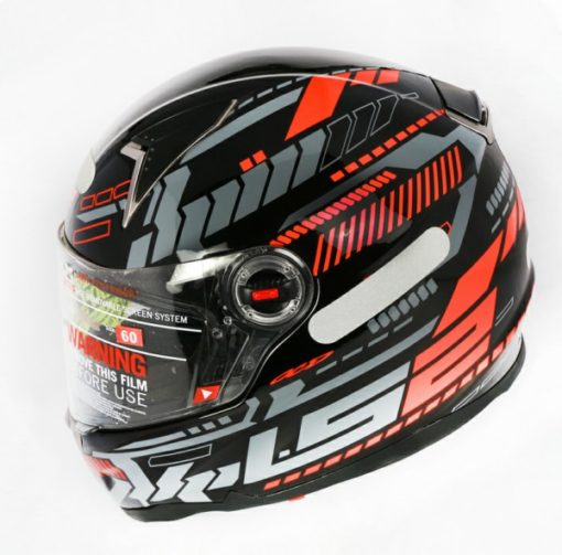 LS2 FF 396 Tron Gloss Black Red Full Face Helmet
