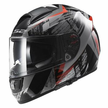 LS2 FF 397 Cosmos Matt Black Red Full Face Helmet