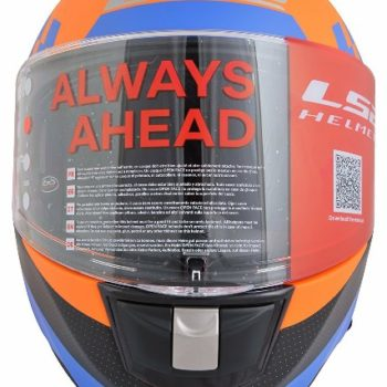 LS2 FF 397 Podium Matt Orange Full Face Helmet 2