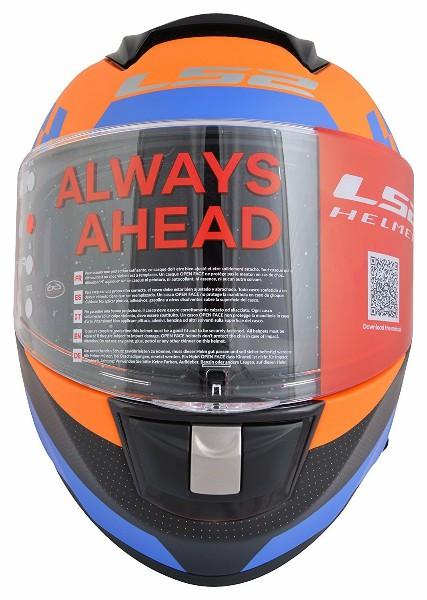 LS2 FF 397 Podium Matt Orange Full Face Helmet 2