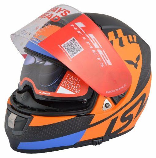 LS2 FF 397 Podium Matt Orange Full Face Helmet