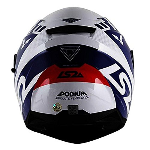 LS2 FF 397 Podium Matt White Blue Full Face Helmet 2