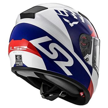 LS2 FF 397 Podium Matt White Blue Full Face Helmet 3