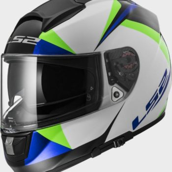 LS2 FF 397 Vector Gloss White Green blue Full Face Helmet