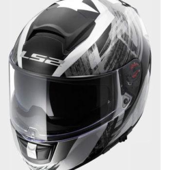 LS2 FF 397 Vector Matt White Black Silver Full Face Helmet 2