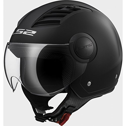 LS2 OF 562 Solid Matt Black Open Face helmet
