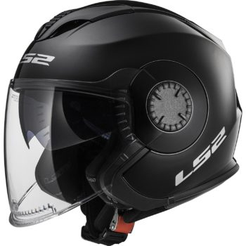 LS2 OF 570 Solid Matt Black Open Face helmet