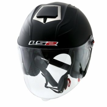 LS2 OF 578 Matt Black Open Face Helmet