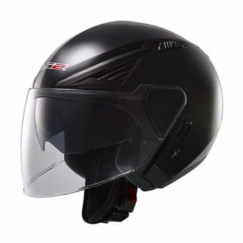 LS2 OF 586 Solid Matt Black Open Face Helmet